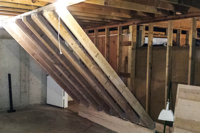 With all the joists installed, your frame is now complete.
