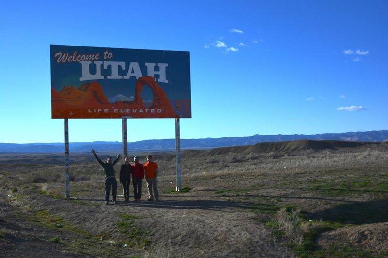 Rock Climbing Photo: Entering Utah