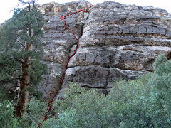 Rock Climbing Photo: Tree Hugger Buttress, Juniper Canyon, Red Rocks, N...