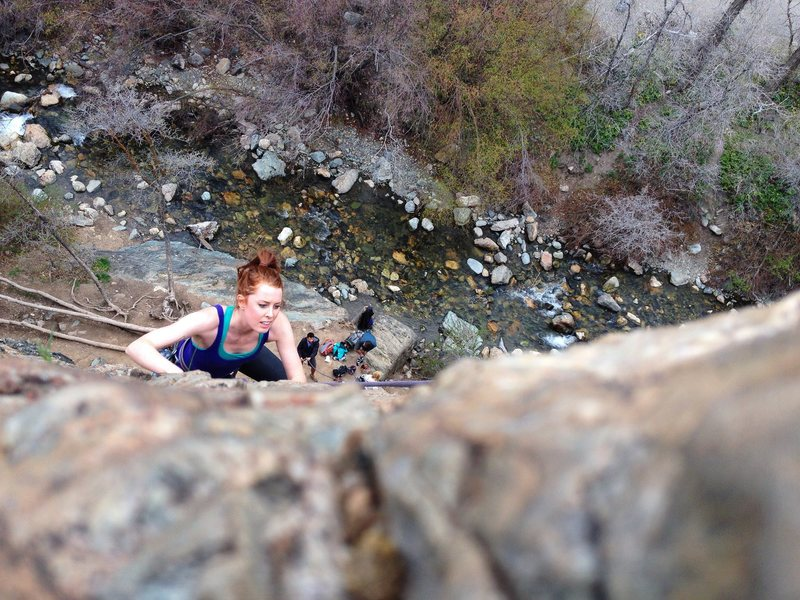 Rock Climbing Photo: 4/15/14 First climb back since shoulder injury in ...