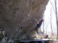 Rock Climbing Photo: Parlier on the FA of Ignition Sequence, Burning Bo...