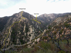 Rock Climbing Photo: Panic Town reference perspective. (Looking WNW fro...