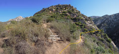 Rock Climbing Photo: At the lookout point above 7 Falls, stay straight ...