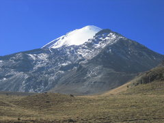 Rock Climbing Photo: Orizaba from the road on the way to the hut.