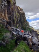 Rock Climbing Photo: The whole crag pretty much collapsed and slid down...