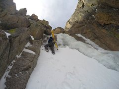 Rock Climbing Photo: Approaching the ice.