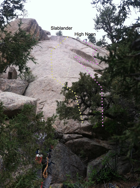 Rock Climbing Photo: High Noon on Shangri-La slab.