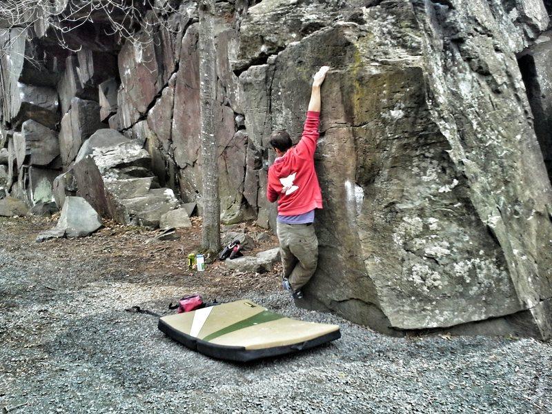 Rock Climbing Photo: Hitting the jug