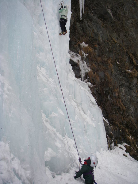 Rock Climbing Photo: The next generation of ice climbers in training