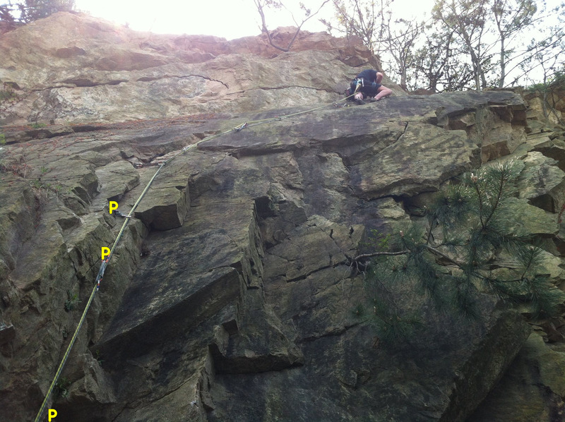 "Rock Climbing Photo: 5.8 YDS ""Mike's Killer Crack"""