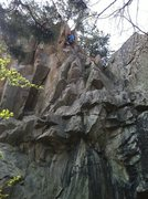 "Rock Climbing Photo: 5.9 YDS TRAD ""I Can't Believe Mike Just Let M..."