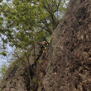 """Rock Climbing Photo: Top out after """"Cave Scramble"""""""