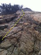 Rock Climbing Photo: Tough Climb Need Good Pro Placement