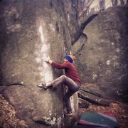 Rock Climbing Photo: Tim Armstrong squeezing up this awesome v5.