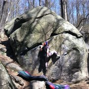 Rock Climbing Photo: Tim Armstrong chalking up before heading into the ...