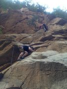 "Rock Climbing Photo: Me just above the start of ""Sanbu/Three Step&..."