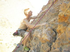 Rock Climbing Photo: climbing out on backus ave in mojave ca