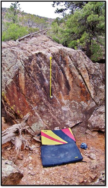 Rock Climbing Photo: Yoga Flame problem beta.