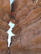 Rock Climbing Photo: Chimneying