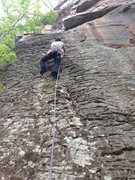 Rock Climbing Photo: Aubrey leading Pepper and Salt. The only move that...