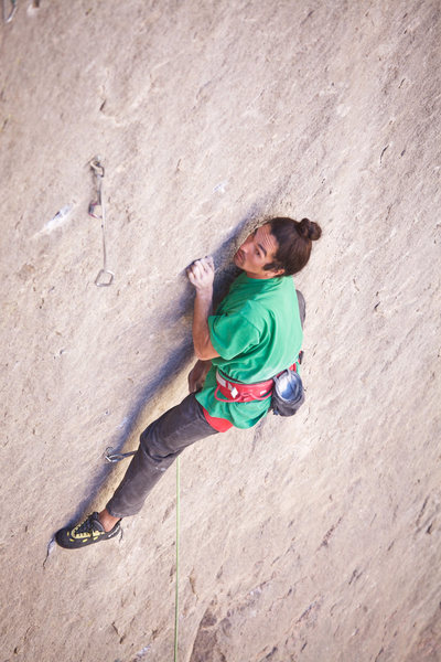 Rock Climbing Photo: Lonnie Kauk on Holey Wars