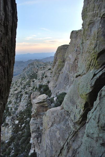 Rock Climbing Photo: The view from The Gallery in fading light.