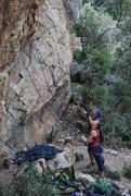 Rock Climbing Photo: Beta scopin'