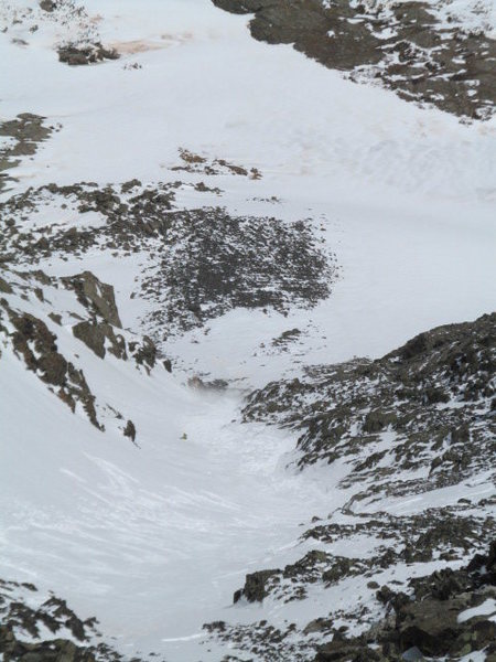 Quandary Couloir avalanche.