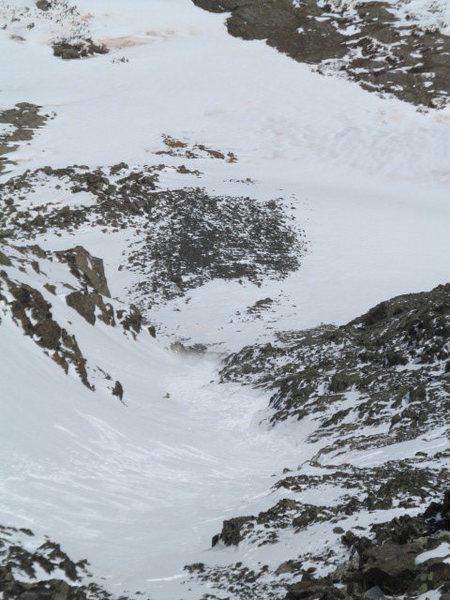Quandary Couloir avalanche.