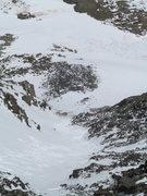 Rock Climbing Photo: Quandary Couloir avalanche.