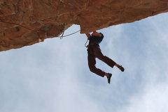 Rock Climbing Photo: At the lip.