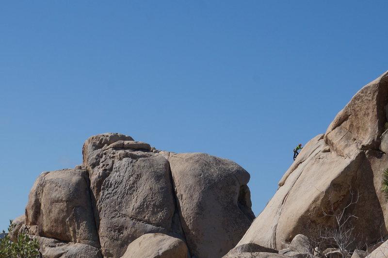Climber on Toe Jam