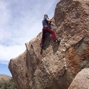 Rock Climbing Photo: Topping out the Kris Special.