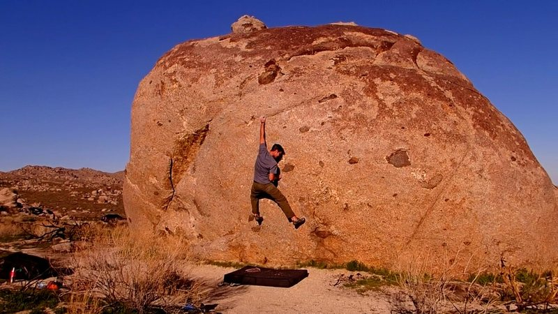Rock Climbing Photo: The move.