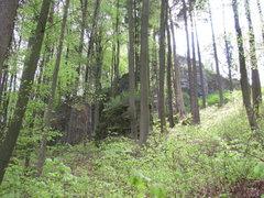 Rock Climbing Photo: The first glimpse of Haunritzer Wand.