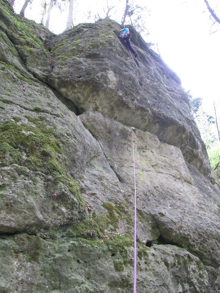 Rock Climbing Photo: Fanny at the top of Pudding oder Schmalz.