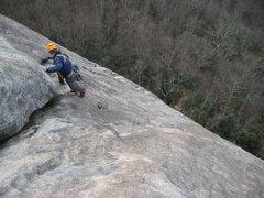 Rock Climbing Photo: slabbin up da nose!
