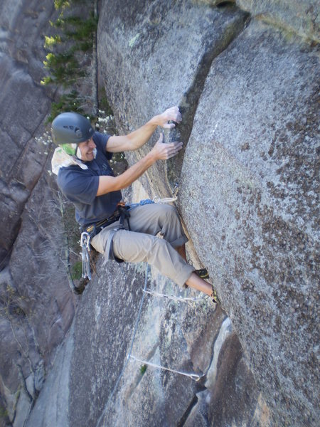 Rock Climbing Photo: The crux boulder problem.