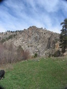 Rock Climbing Photo: Krumbling Towers as seen looking north from where ...