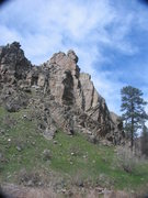 Rock Climbing Photo: A prominent fin of schist on the south side of the...