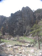 Rock Climbing Photo: A metamorphic rock outcrop just SW of the fire des...