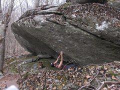 Rock Climbing Photo: Parlier starting Canis Dirus