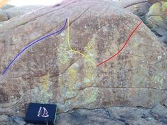 Rock Climbing Photo: The Lip, The Russian Cosmonaut, and Escape Velocit...