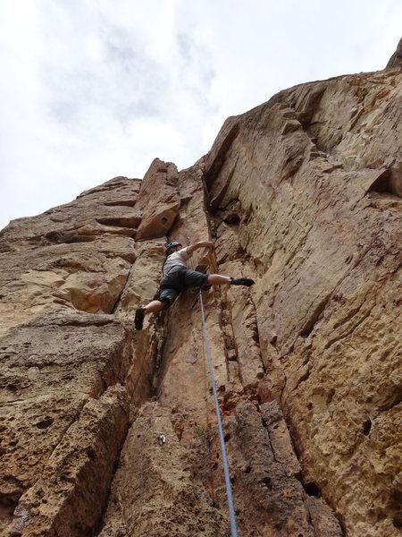 Rock Climbing Photo: Nice stemming.