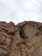 Rock Climbing Photo: A little higher on the arete.