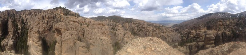 View from the top of Great Chasm.