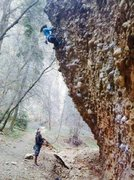 Rock Climbing Photo: Me leading my first .11b The Angry Inch