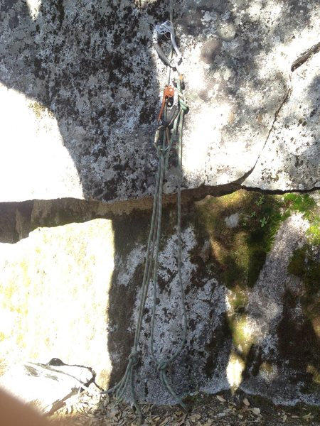 When you leave your ladders up at the fixed belay.