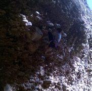 Rock Climbing Photo: leading Honey Bucket