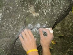 Rock Climbing Photo: starting hold, excuse the hands in the way its the...